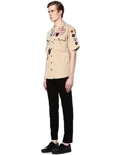 Karışık Motif Nakışlı Uzun Kollu Gömlek-Dsquared2